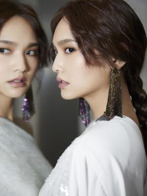 杨丞琳纯白宽松套装灵气优雅冷艳性感图片