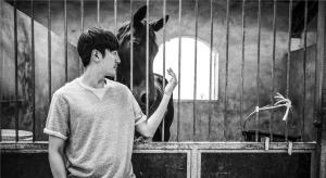 演员张鲁一骑马外拍照片