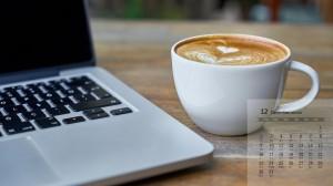 2019年12月美味咖啡唯美高清日历壁纸