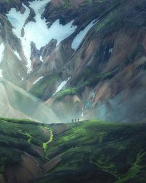 冰岛的高地