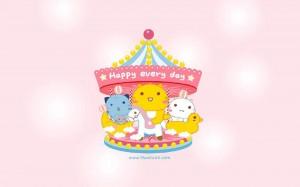 哈咪猫彩色儿童节卡通图片桌面壁纸