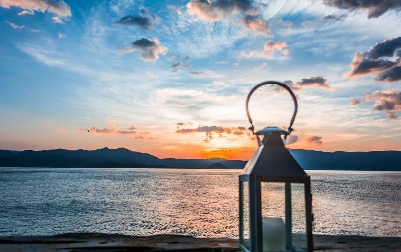 洱海日出风景