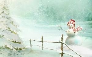 圣诞节微笑的小雪人