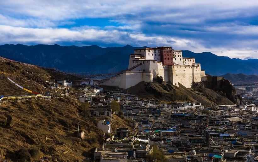 西藏扎布伦寺风景