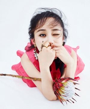 杨紫最新少女风写真图片