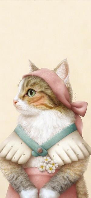 欧美可爱猫咪手机壁纸