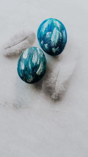 蓝色复活节彩蛋