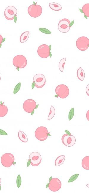 萌系手绘水果平铺手机壁纸