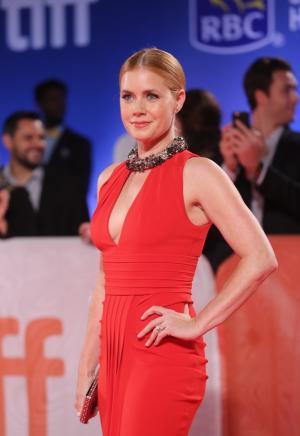 艾米·亚当斯深V优雅长裙艳压红毯图片