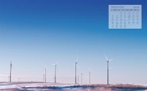2021年9月唯美风车美景日历壁纸