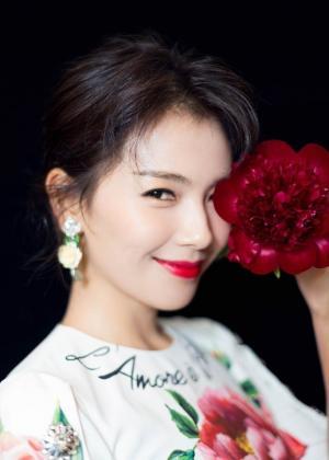 刘涛性感红唇印花包臀裙大秀完美曲线写真图片