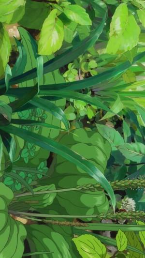 绿色养眼动漫场景手机壁纸