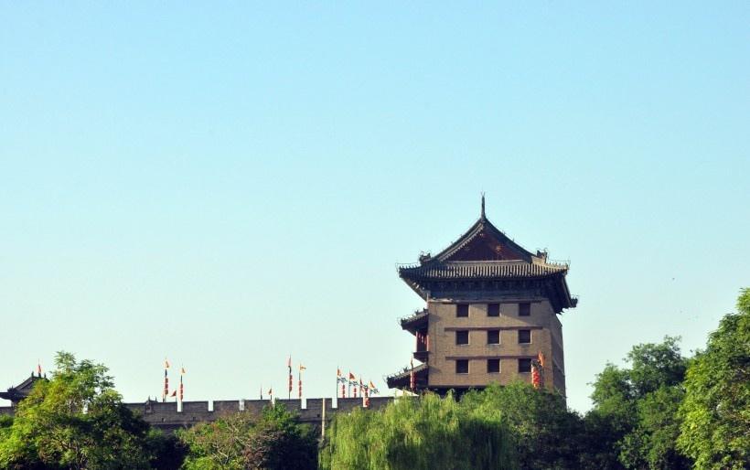 陕西西安古城风景写真