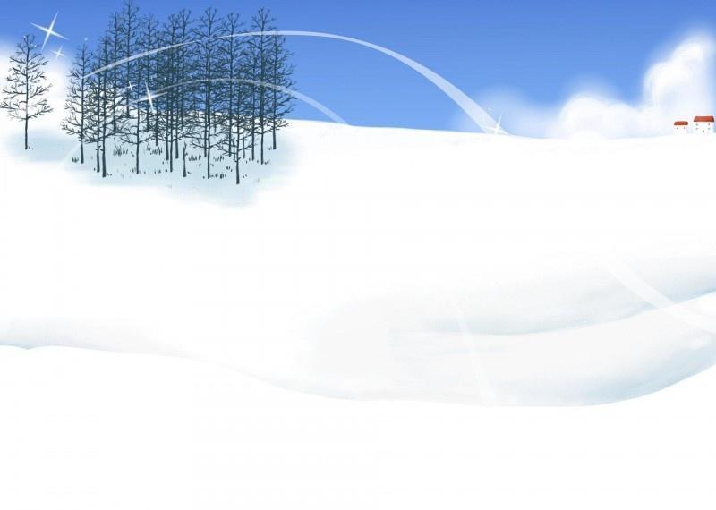 冬天唯美插画