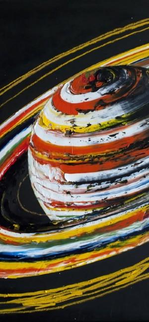 油画手绘涂鸦星球艺术手机壁纸