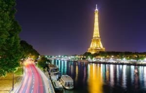 埃菲尔铁塔城市夜景