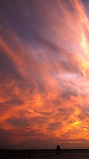 绚丽的大自然火烧云美景