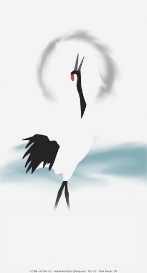 白鹤唯美意境中国风手机壁纸