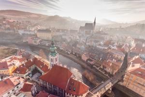 捷克克鲁姆洛夫小镇风景壁纸
