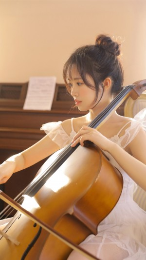 文藝性感小提琴美女手機壁紙