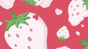 可爱卡通水果水彩插画高清桌面壁纸