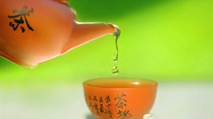 唯美精致的茶艺桌面壁纸