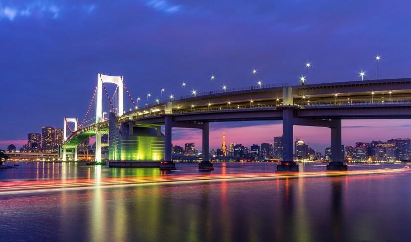 城市唯美燈光夜景圖片