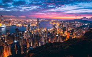 香港优美城市风景图片