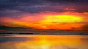 海边夕阳唯美风光桌面壁纸