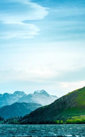 青山绿水唯美自然风光感恩背景