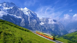 阿尔卑斯山绝美景色高清桌面壁纸