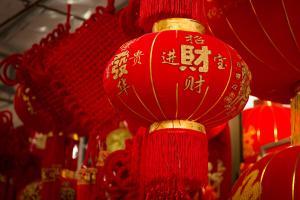 喜庆春节红色灯笼图片