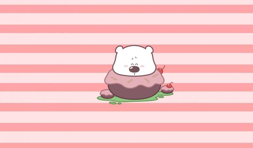白色胖嘟嘟胖小囧熊卡通图片