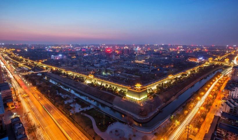 陕西西安城市夜景写真