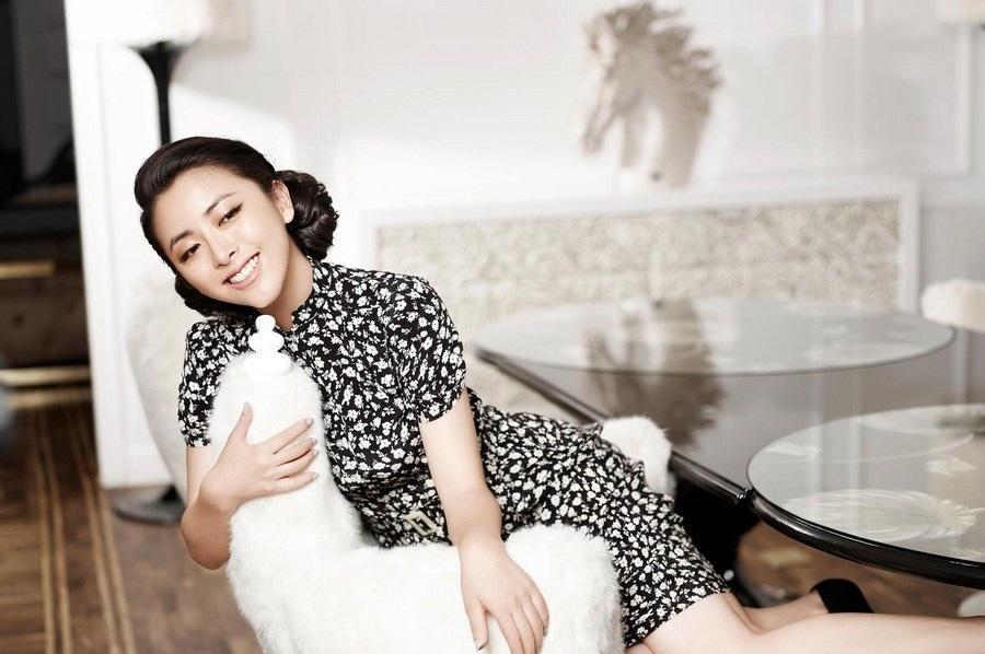 美女明星黄小蕾旗袍民国风写真