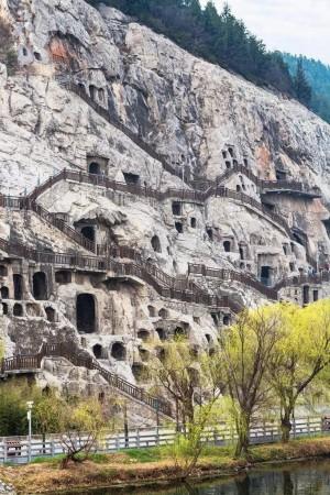 河南龙门石窟唯美风景图片