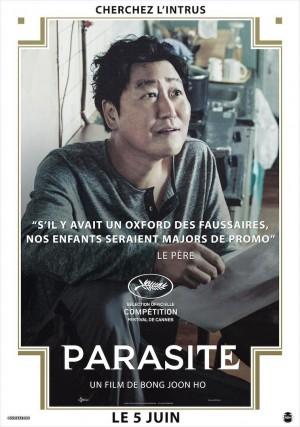 韩国著名导演奉俊昊《寄生虫》人物高清海报