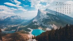 2020年4月清新自然风景日历壁纸