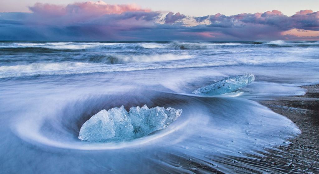 壮观寒冷冰雪地场景写真