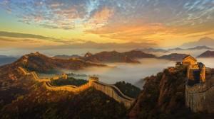 壮观雄伟的长城风景图片桌面壁纸