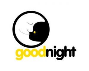 簡約晚安文字圖片