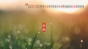 2020年4月谷雨时节高清日历壁纸