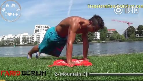 肌肉徒手腹肌训练视频